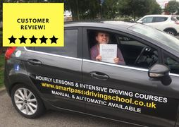 Lucy Gahagan passing her driving test in King's lynn