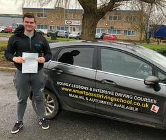 Mason first time pass in Kings Lynn